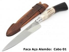 Faca Gaúcha para Churrasco, Carnes, Cozinha - Cabo Cervo 5 Pol.