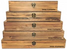 Caixa Para Facas de: 5, 7,  8, 9 E 10 Polegadas em Madeira