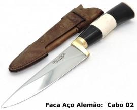 Faca para Churrasco Aço Alemão - Cabo Cervo 5 pol.