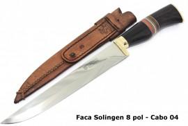 Faca Bonsmann Importada de Solingen, Bainha de Couro - 8 pol.