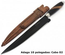 Adaga Gaúcha, Aço Carbono Black Forja Javalizeira - 10 Pol.